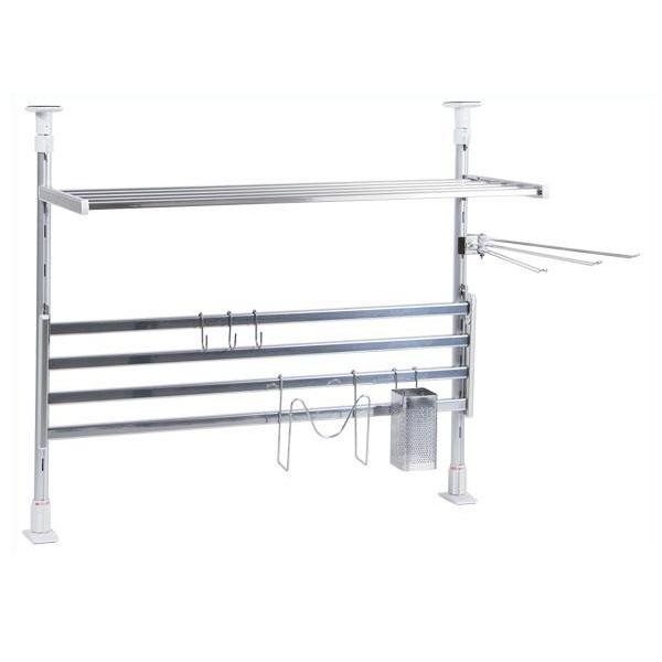 TAKUBO タクボ 水切棚シリーズ つっぱり棚 2段 幅60cm お買得セット TP2-60K