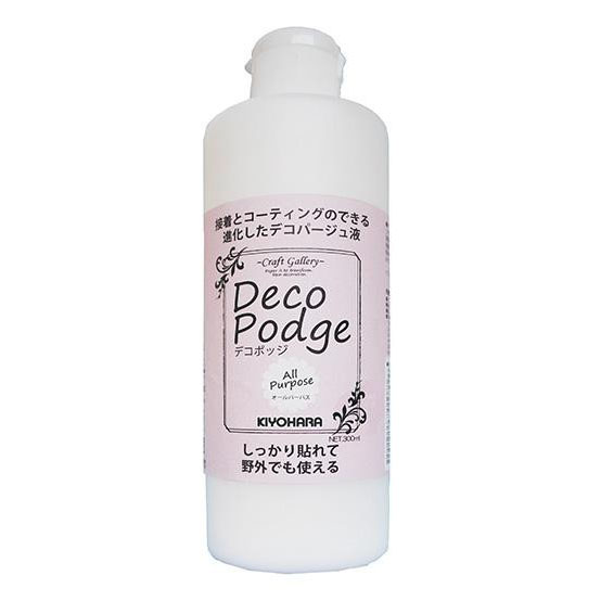 Deco Podge デコポッジ 接着とコーティングのできる進化したデコパージュ液 オールパーパス Lサイズ 300ml DEP-03L