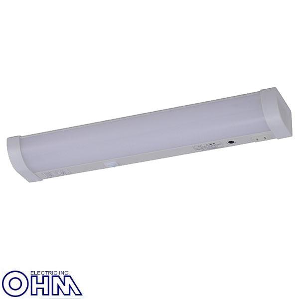 オーム電機 LED流し元灯(15W相当) プラグ付センサースイッチ 昼光色 LT-N10D-HSS