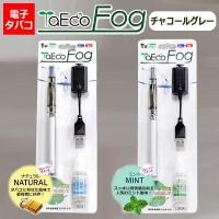 電子タバコ TaEco Fog(タエコフォッグ) チャコールグレー ナチュラルフレーバー・FG-401CH-N