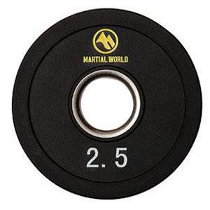 UP2500 ポリウレタンオリンピックプレート 穴径50mm 2.5kg