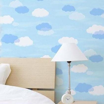 のり残りなし!アクセント壁紙 幅45×高さ250cm 雲 WAP-505S