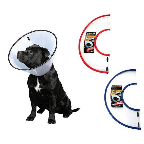 FANTASY WORLD 犬・猫用ラクラクペットカラー VET Collar(ベットカラー) Mサイズ クリア・VC-3