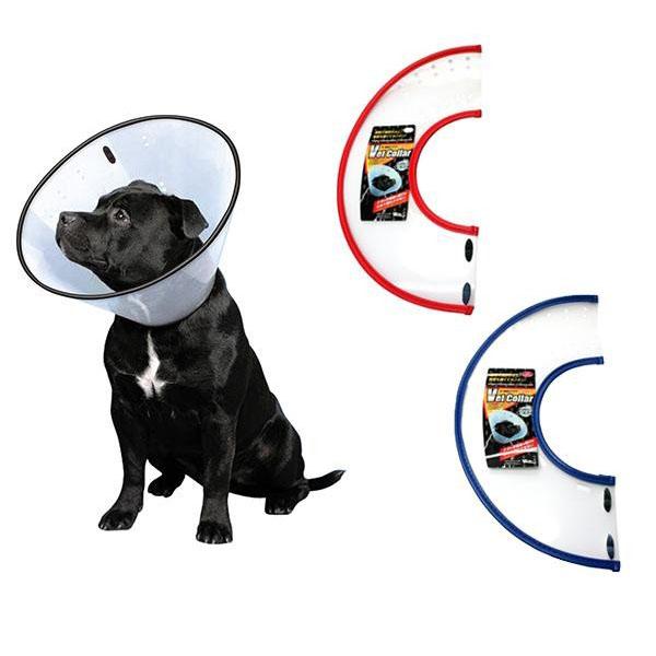 FANTASY WORLD 犬・猫用ラクラクペットカラー VET Collar(ベットカラー) Lサイズ クリア・VC-4