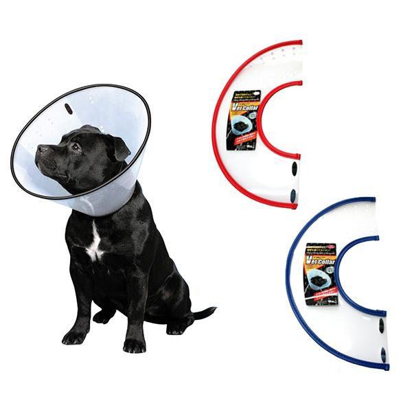 FANTASY WORLD 犬・猫用ラクラクペットカラー VET Collar(ベットカラー) XLサイズ クリア・VC-5