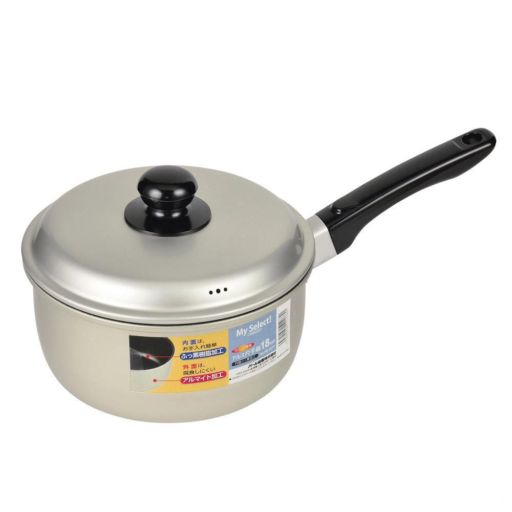 パール金属 マイセレクト アルミ片手鍋18cm(内面ふっ素加工) HB-3077