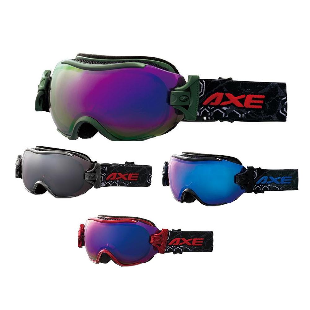 AXE(アックス) メンズ フレームレス 3Dジョイント ゴーグル AX750-WCM KH・カーキ
