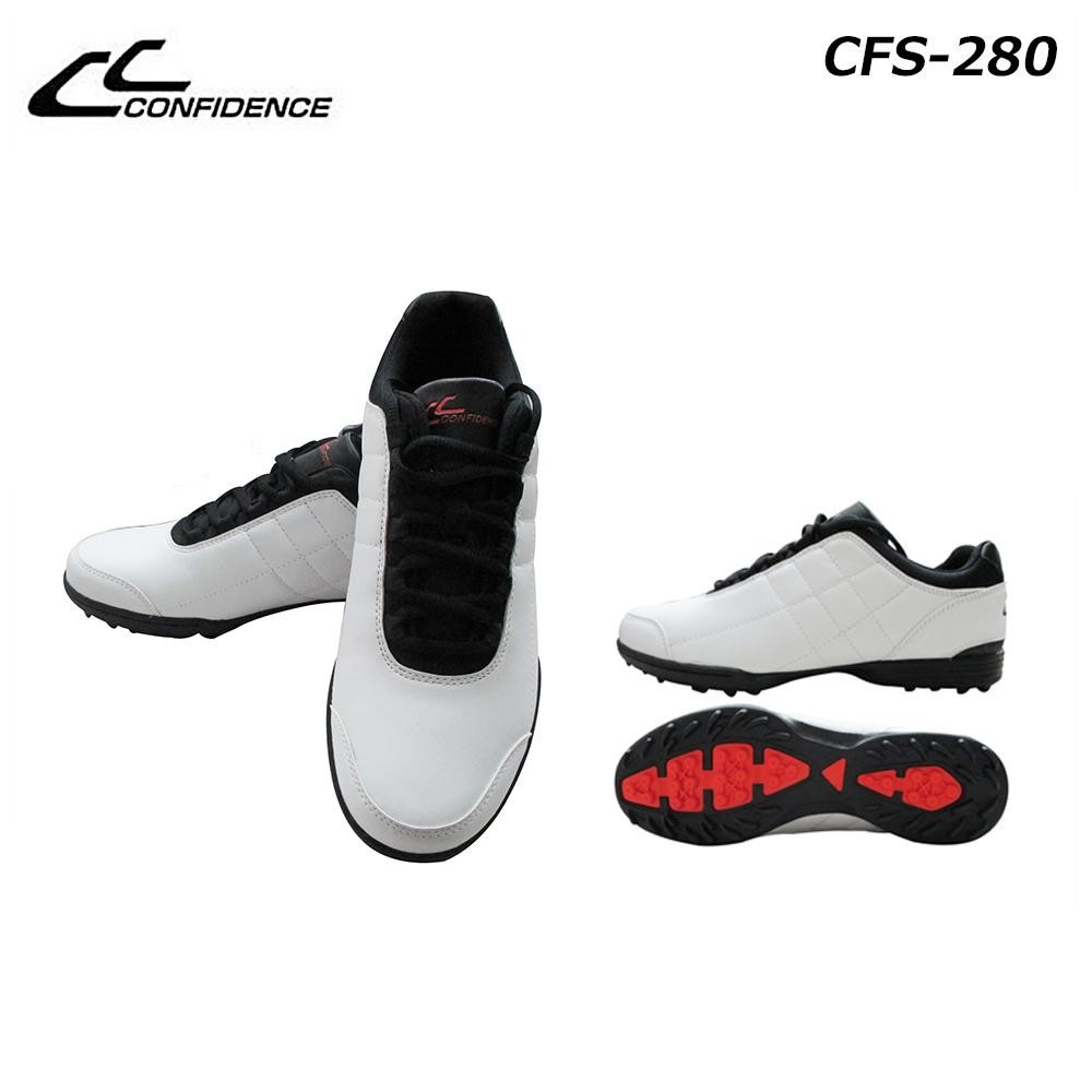 CONFIDENCE (コンフィデンス)  メンズスパイクレスシューズ CFS-280 ホワイト 24.5