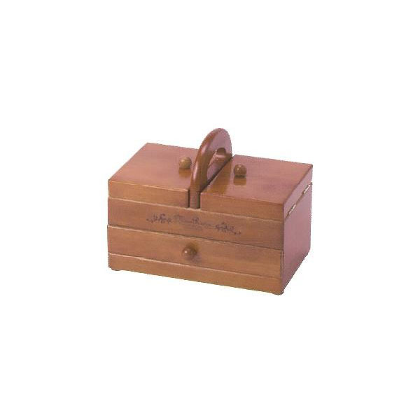 木製手芸裁縫箱 ソーイングボックス406 202-406