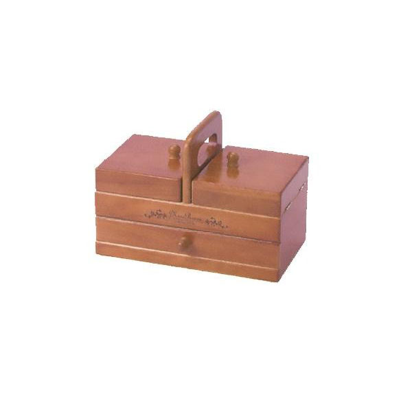 木製手芸裁縫箱 ソーイングボックス509 202-509