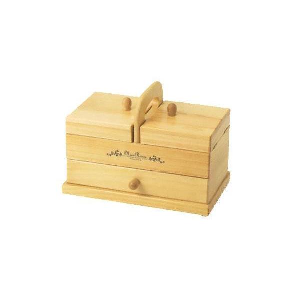 木製手芸裁縫箱 ソーイングボックス750 202-750