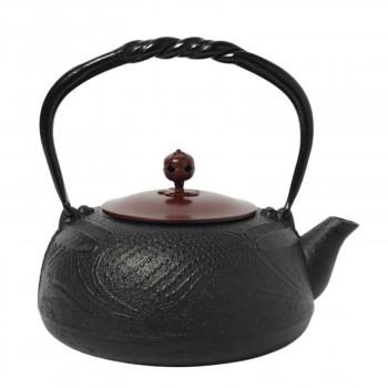 南部鉄器 宝生堂 鉄瓶(銅蓋) とんぼ 黒 1.2L 700099