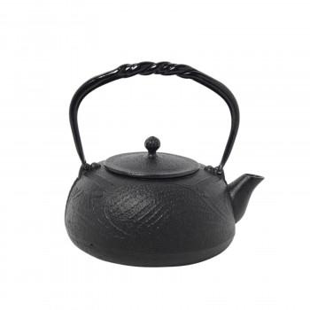 南部鉄器 宝生堂 鉄瓶(鉄蓋) とんぼ 黒 1.2L 700100