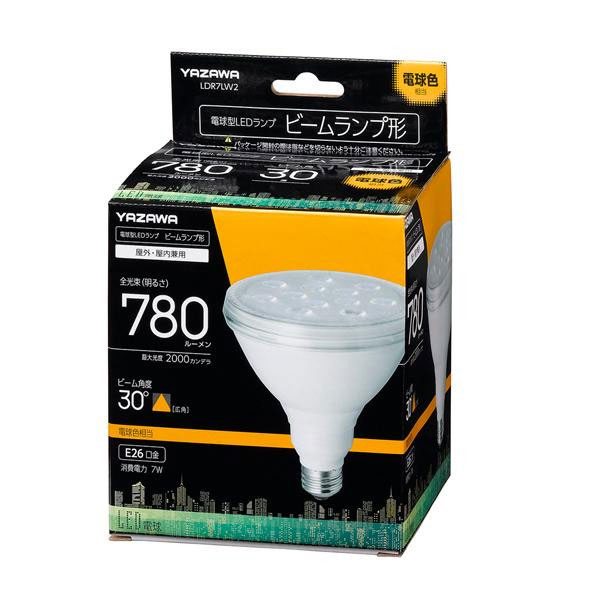 YAZAWA(ヤザワコーポレーション) ビーム形 LEDランプ 7W 電球色30度 LDR7LW2