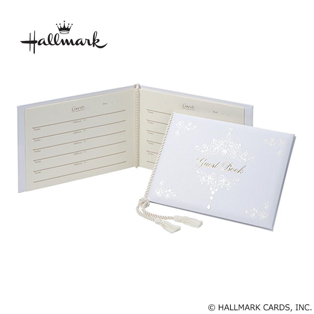 Hallmark ホールマーク ウエディングコレクション ホワイトティアラ ゲストブック EWG-543-082