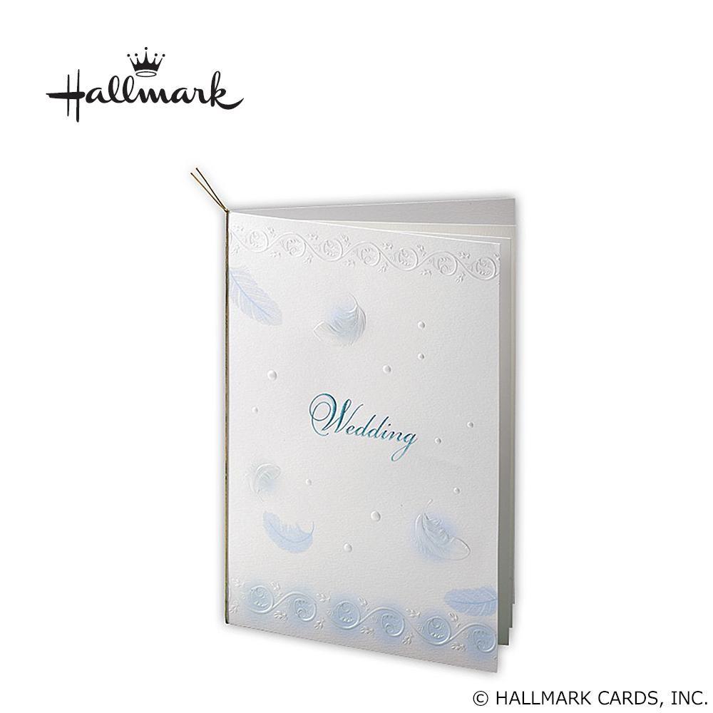 Hallmark ホールマーク ウエディングコレクション フェザーブルー 席次表セット 10名様用 EWD-504-151