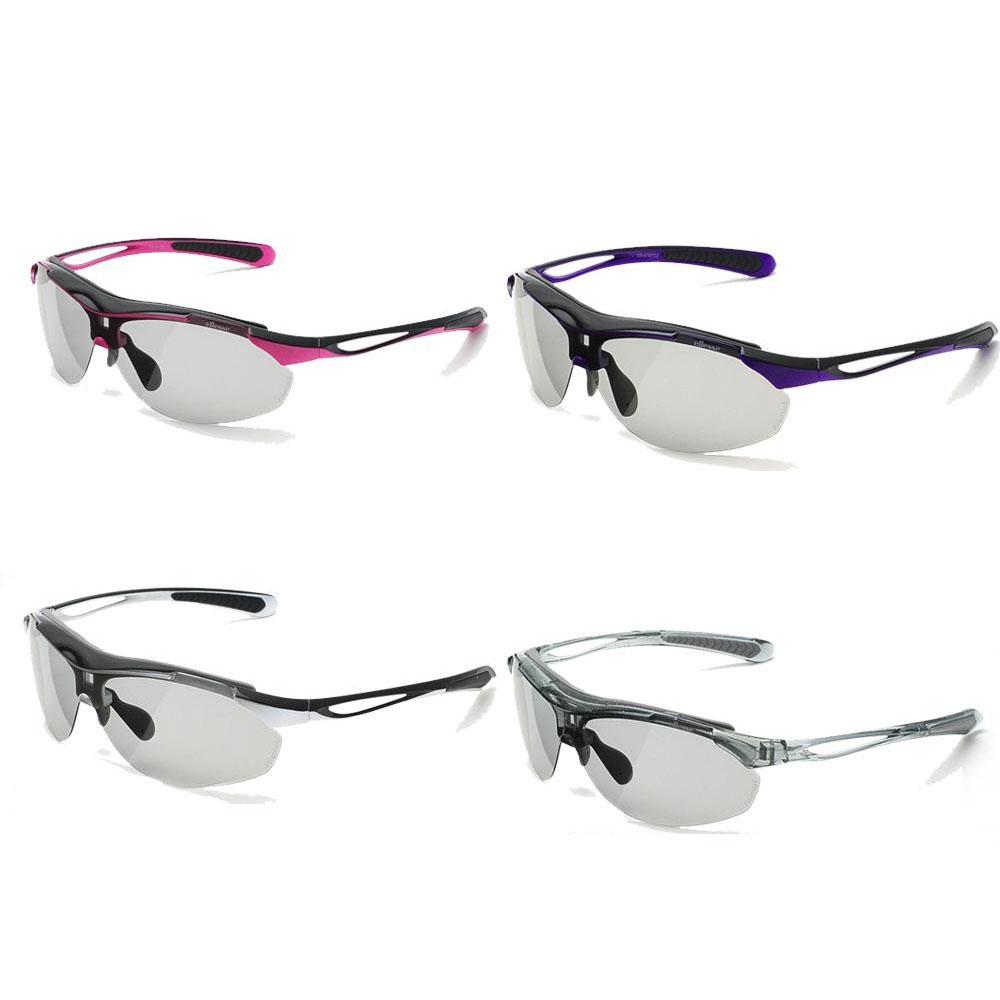 ellesse エレッセ レンズ交換式1眼タイプ スポーツサングラス ES-S107 ブラック×ビビッドピンク