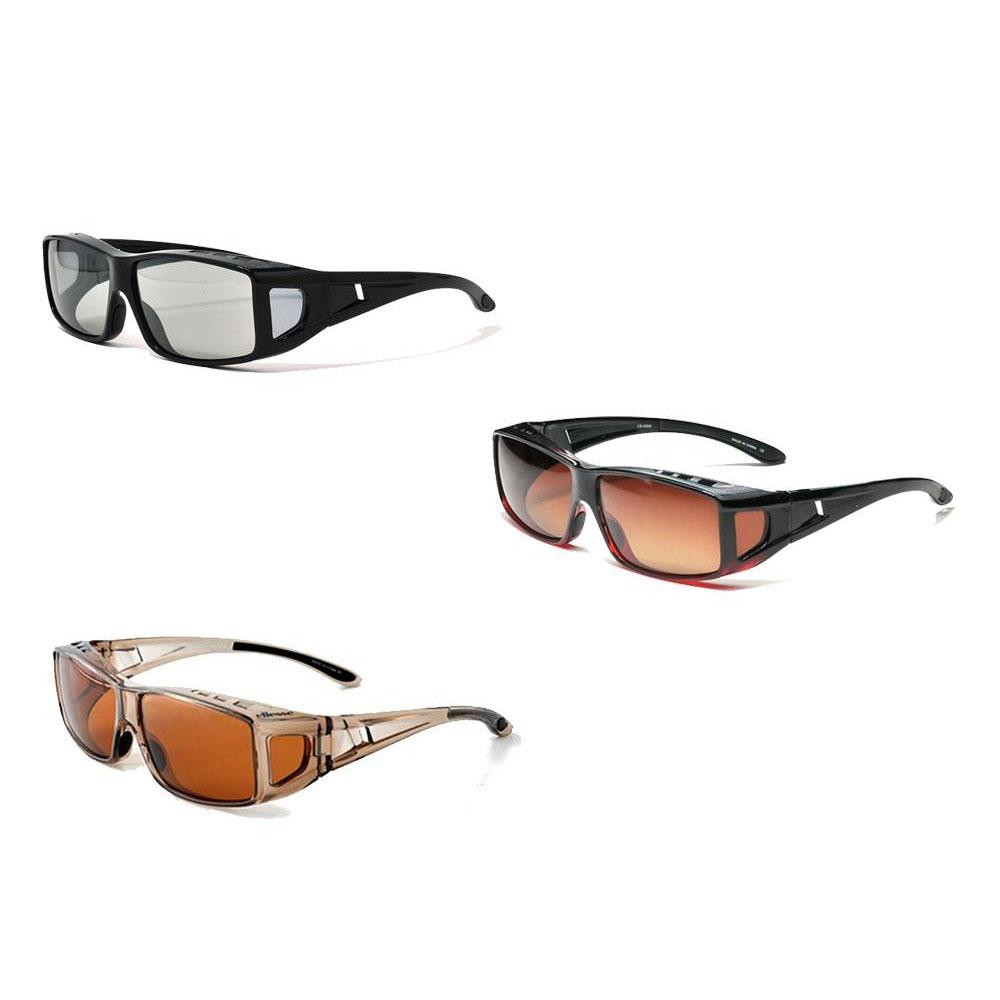 ellesse エレッセ メガネの上からかけられるオーバーサングラスMサイズ ES-OS02 ブラック偏光スモーク