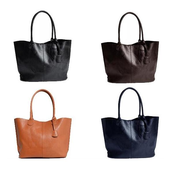 本革風PUトートバッグ bag-007 BLACK(ブラック)