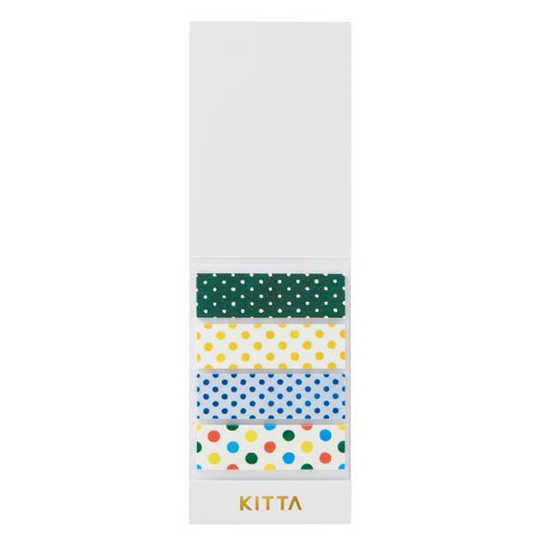 KING JIM(キングジム) KITTA キッタ  40枚入(10枚×4柄) 5冊セット ドット KIT003