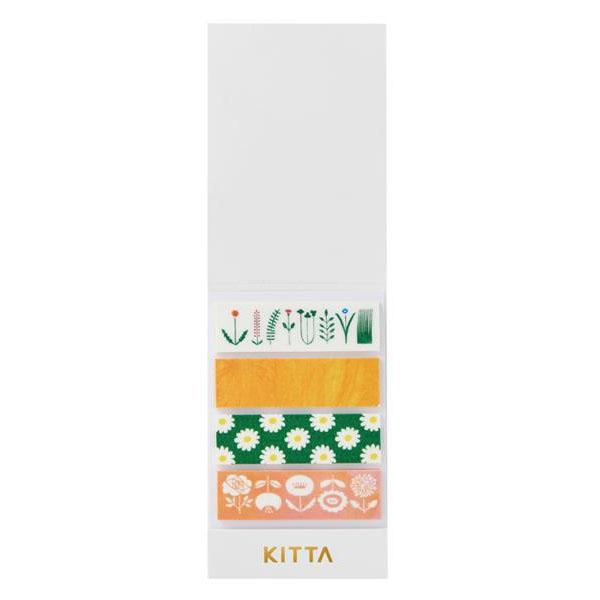 KING JIM(キングジム) KITTA キッタ  40枚入(10枚×4柄) 5冊セット フラワー KIT007
