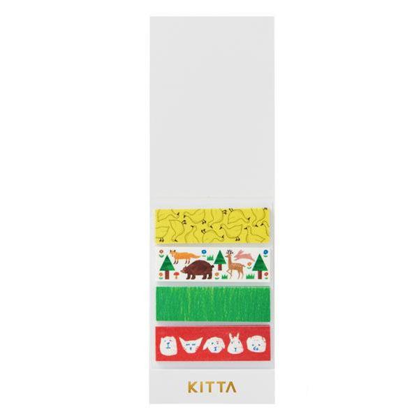 KING JIM(キングジム) KITTA キッタ  40枚入(10枚×4柄) 5冊セット アニマル KIT008