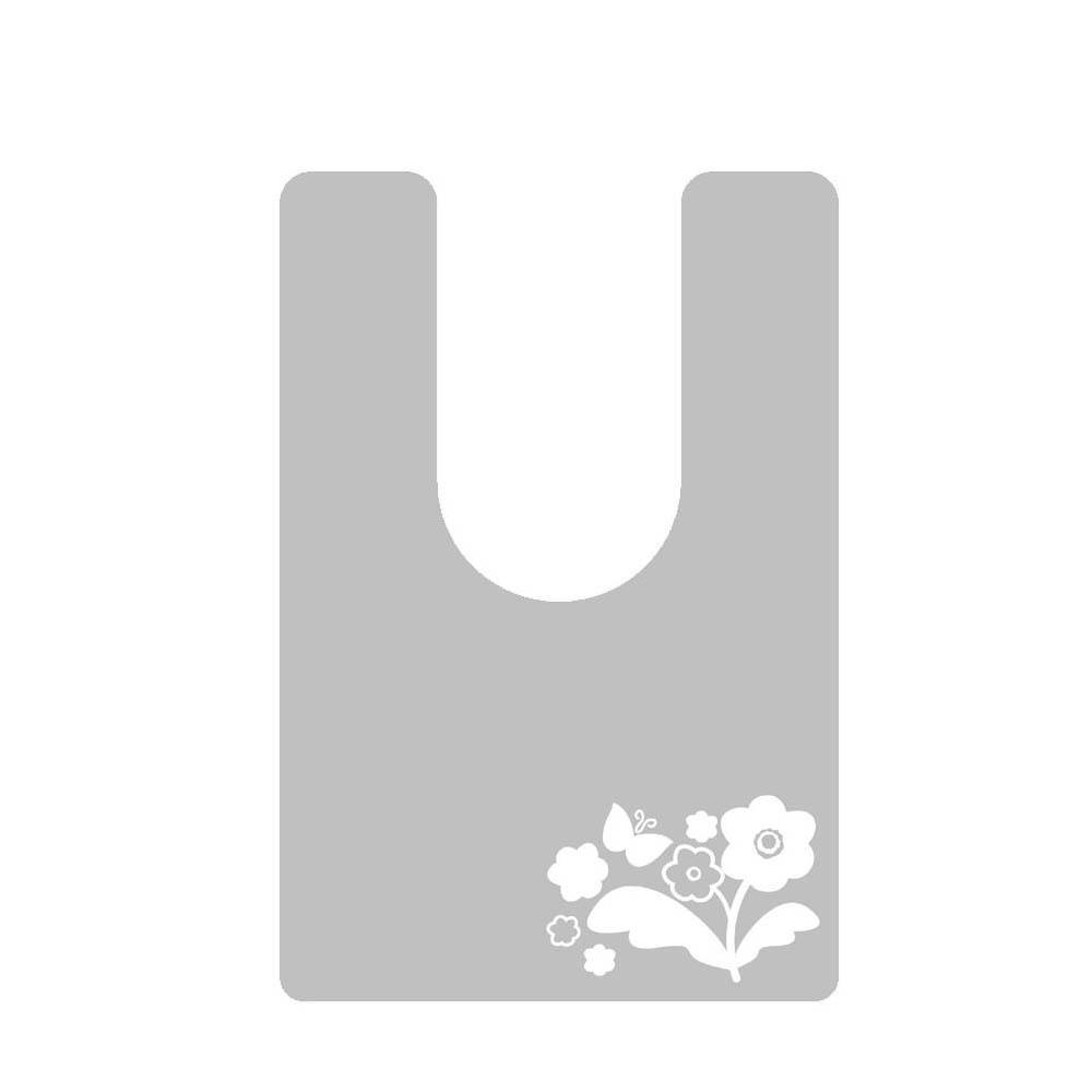 日本製 オカモトPVC使用 拭ける!トイレマット 半透明タイプ(耳長サイズ) バタフライ柄