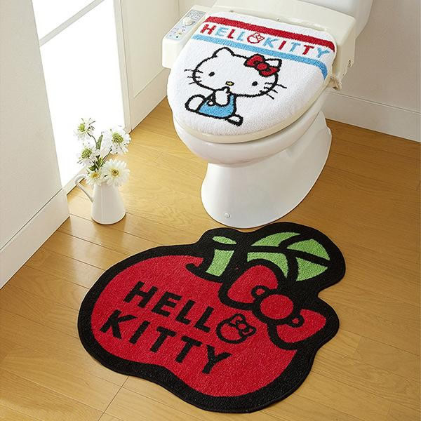 トイレ2点セット(フタカバー&トイレマット) サンリオ キティ SB-143
