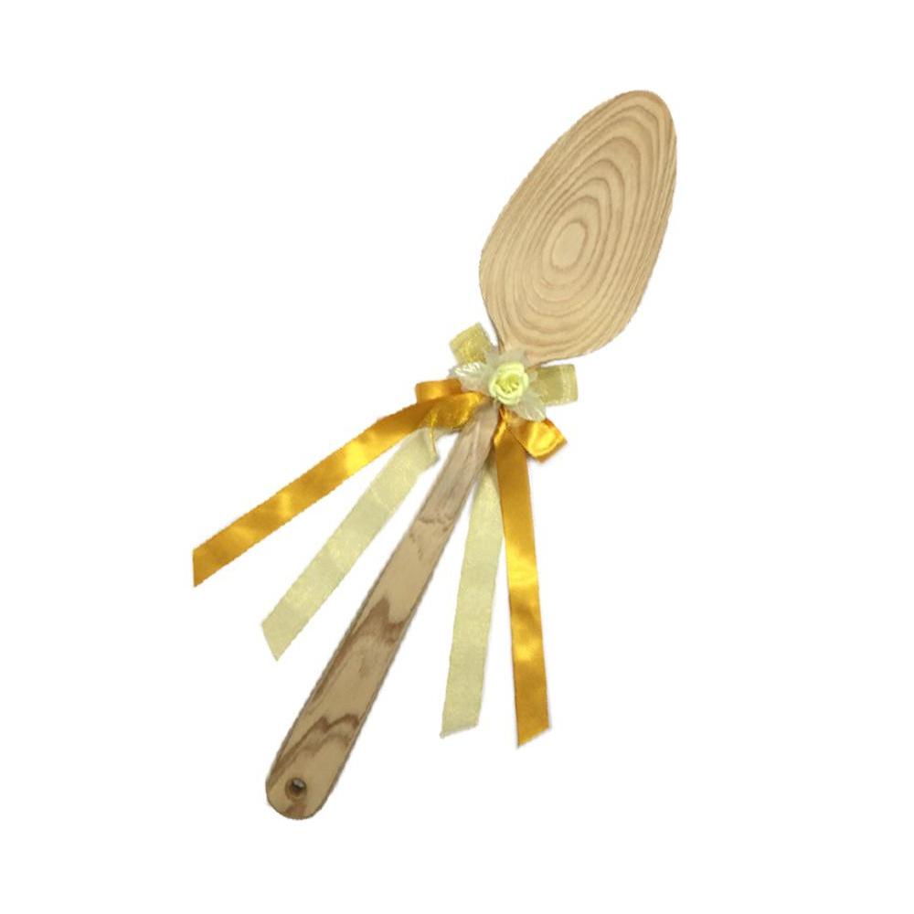 ファーストバイトに! ビッグウエディングスプーン 誓いのスプーン クリア 60cm 黄色リボン