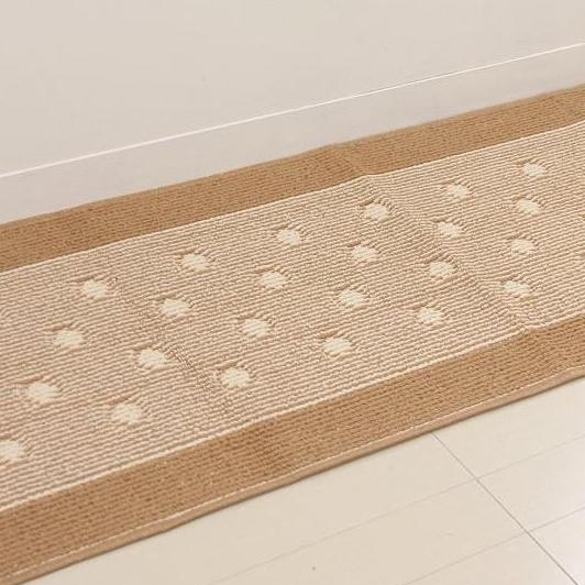 踏みラク 洗えるキッチンマット 日本製 プロント 60×240cm ベージュ・1769