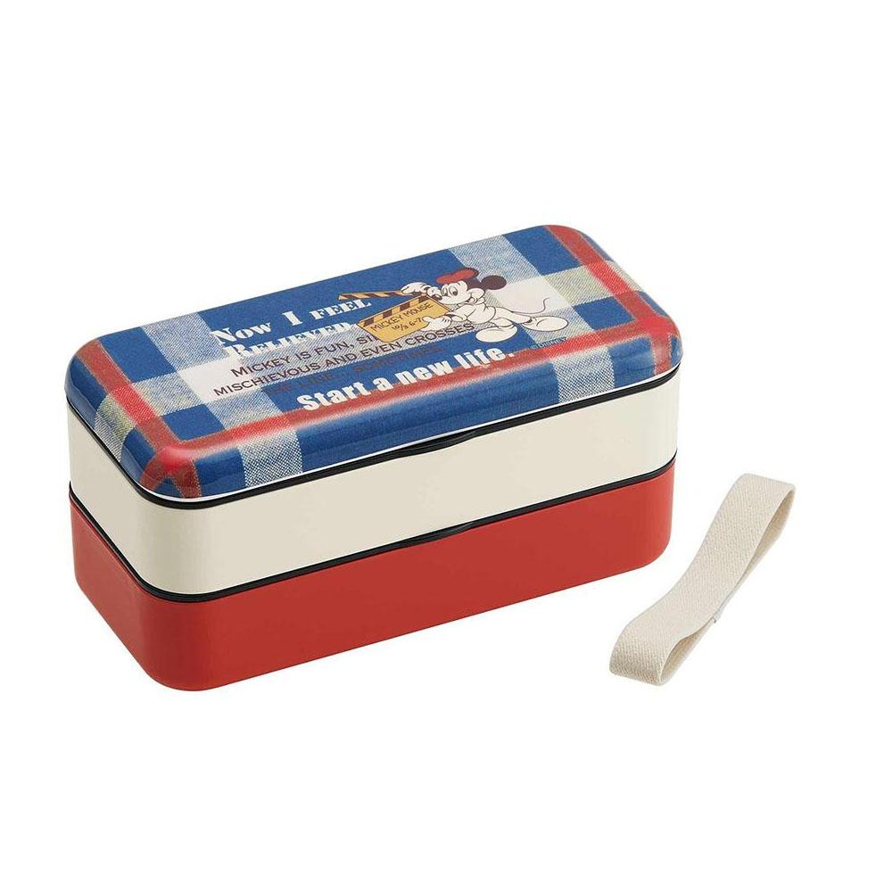 pos.368479 シンプルランチボックス(メラミン製蓋)  ミッキーマウス SLBW6M