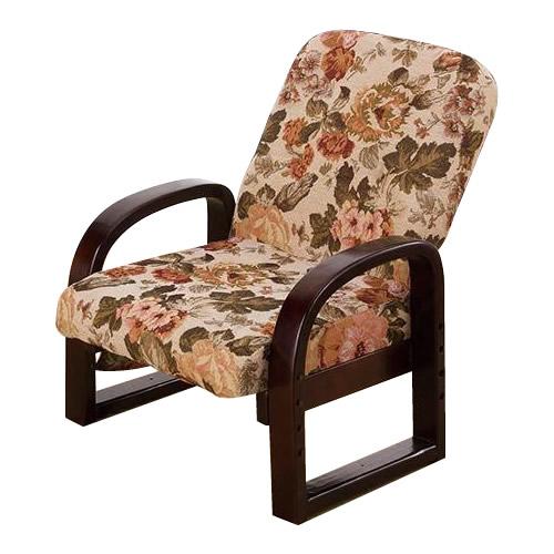 リクライニングやすらぎ座椅子 華 花柄 ARYZ-5661AK