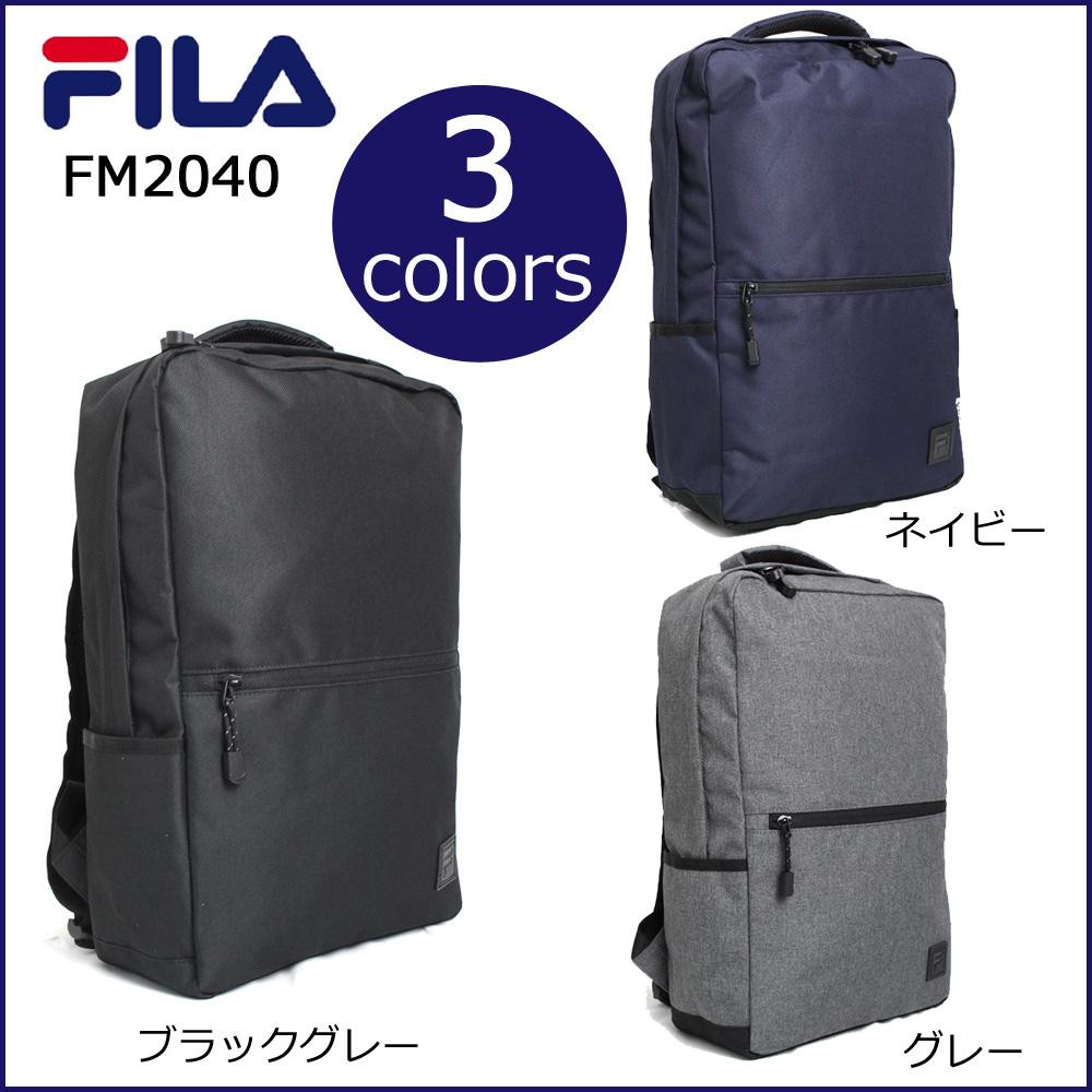 FILA フィラ リュック BOXデイパック ブラック・FM2040