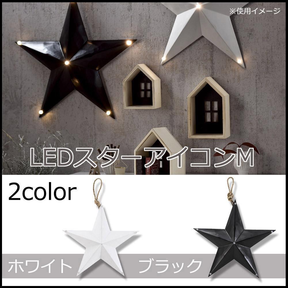 LED電球付きオブジェ スターアイコン(星) M ホワイト・16AW092
