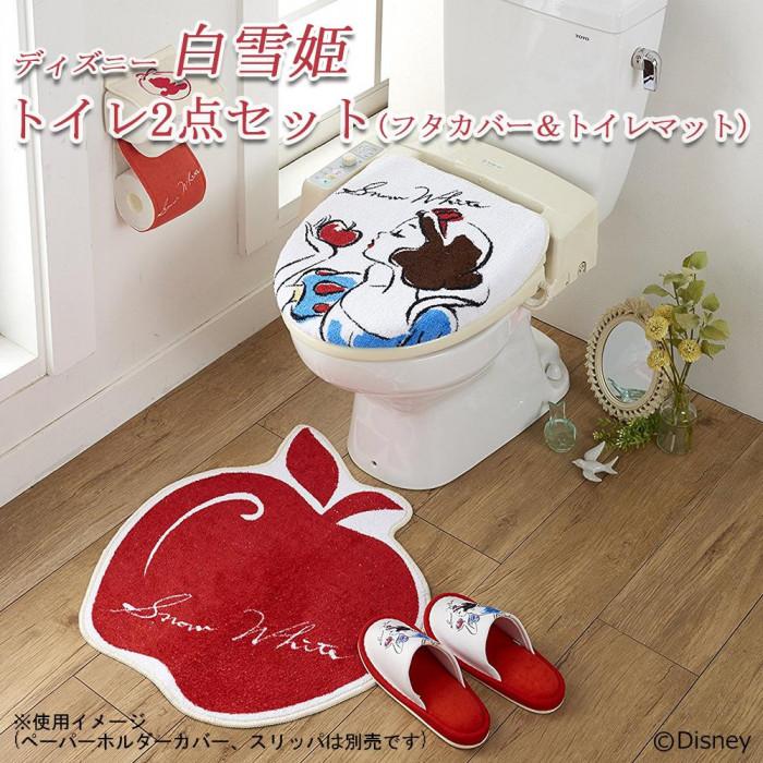 トイレ2点セット(フタカバー&トイレマット) ディズニー 白雪姫 SB-244