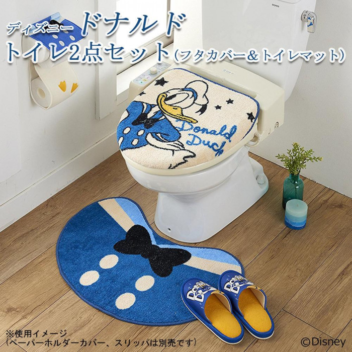 トイレ2点セット(フタカバー&トイレマット) ディズニー ドナルド SB-251