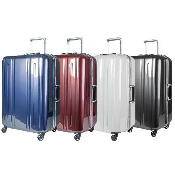 EVERWIN(エバウィン) 157センチ以内 超軽量設計 スーツケース BE LIGHT 63cm 82L 31226 ネイビーカーボン