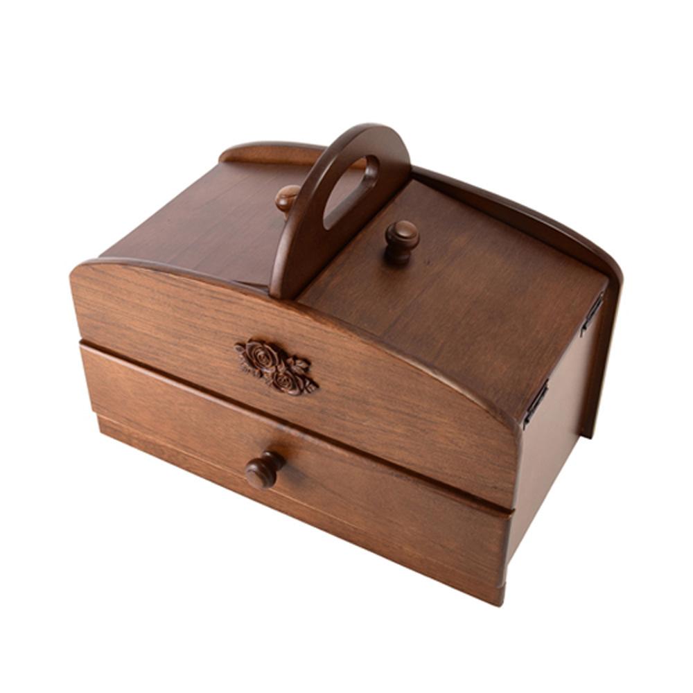 茶谷産業 日本製 木製ソーイングボックス 020-300