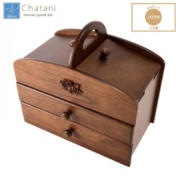 茶谷産業 日本製 木製ソーイングボックス 020-301