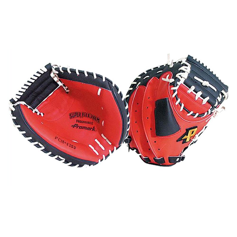 Promark プロマーク 野球グラブ グローブ 軟式一般 捕手用 キャッチャーミット レッドオレンジ×ブラック PCM-4253