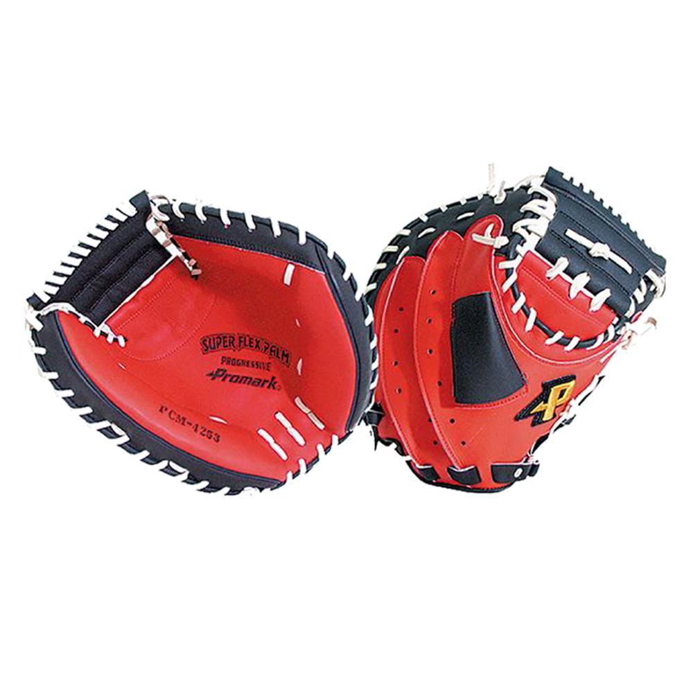 Promark プロマーク 野球グラブ グローブ 軟式一般 捕手用 キャッチャーミット レッドオレンジ×ブラック 左用 PCM-4253RH