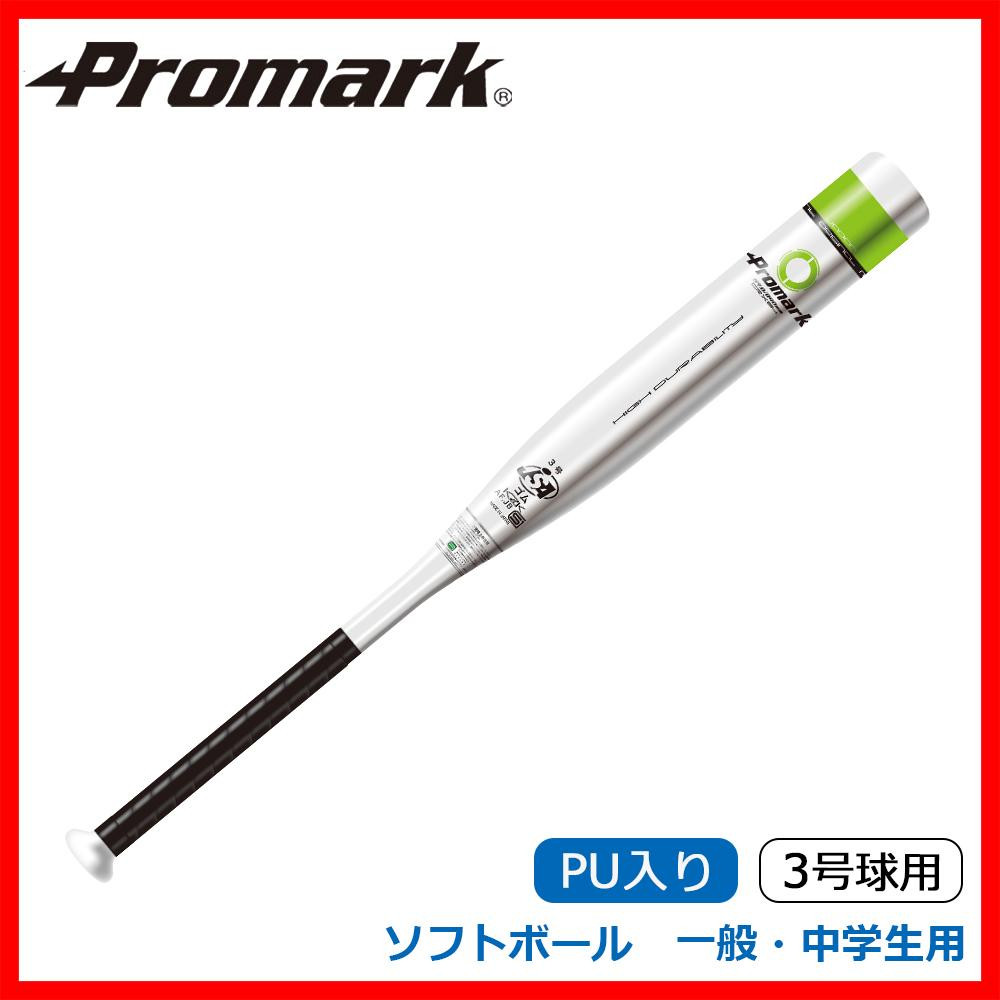 Promark プロマーク 金属製バット ソフトボール 一般・中学生用 3号球用 PU入り シルバー AT-355C