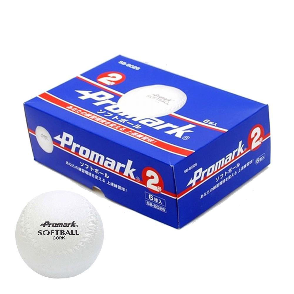Promark プロマーク ソフトボール練習球6球入 2号球 SB-8026