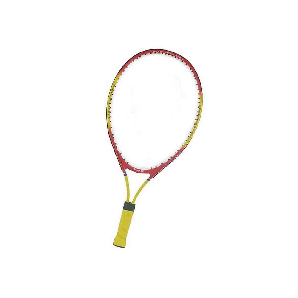 CALFLEX カルフレックス 硬式 キッズ用 テニスラケット 専用ケース付 レッド×イエロー CAL-21-III