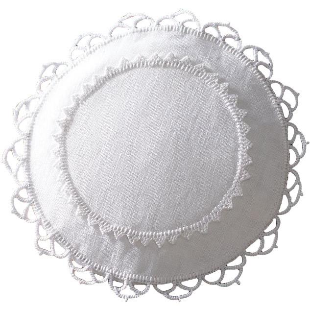 クロバー手芸キット 白糸刺しゅうのキット サシェ・サークル 61-428