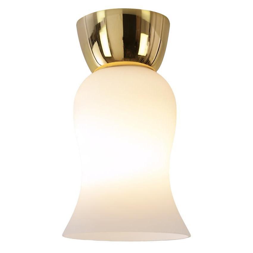 簡単取付!シンプル照明 小型ガラスシーリングライト 1灯 GEM-6917