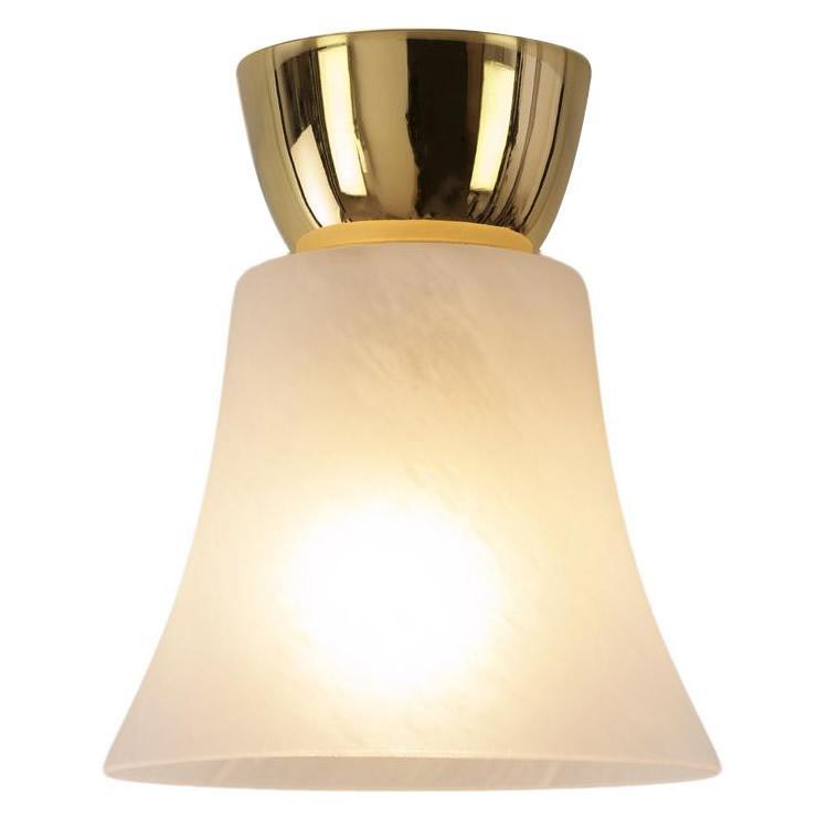 簡単取付!シンプル照明 小型ガラスシーリングライト 1灯 GEM-6918