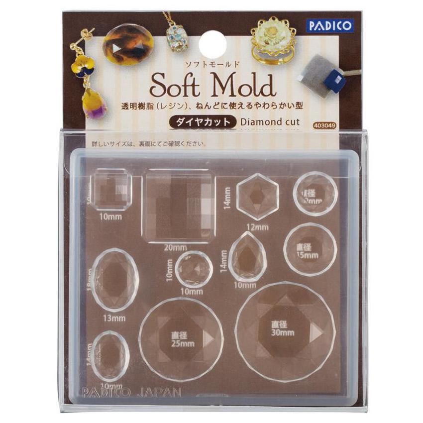 PADICO パジコ ソフトモールド ダイヤカット 3個セット 403049