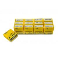 スマートスタンプ3号 横型 ビジネス月分12個セット 青インク SYS-3010