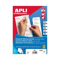 01286 APLI社 マルチA4ラベル 100枚 40面 52.5×29.7mm